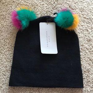 ZARA double pom-pom hat,gorgeous!!NWT